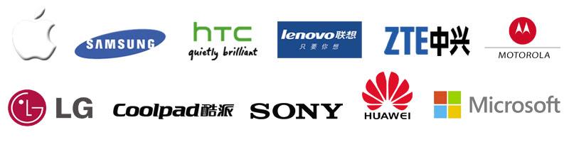 Brand logos phone we repair