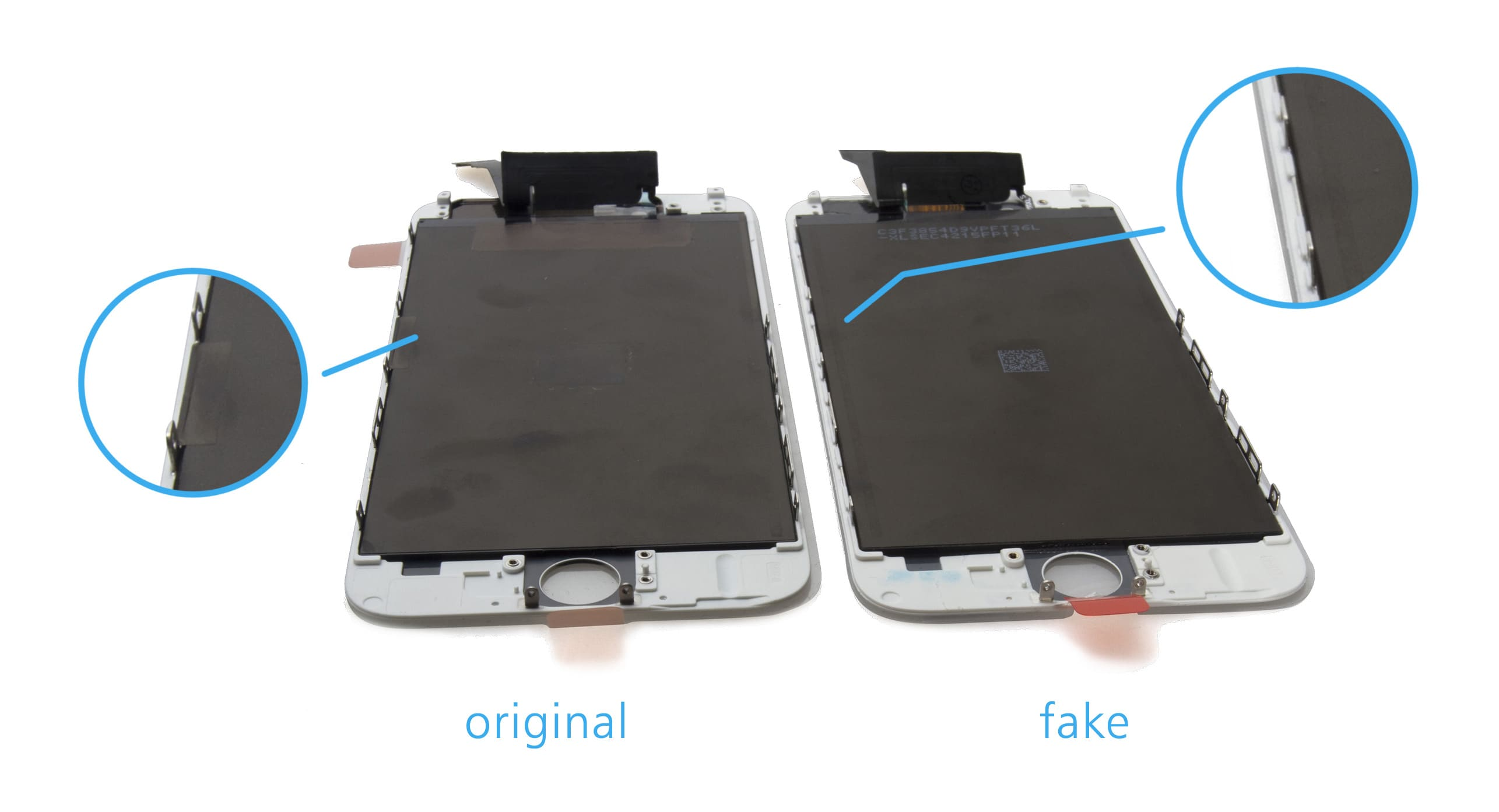 iPhone repair - Original vs fake screens