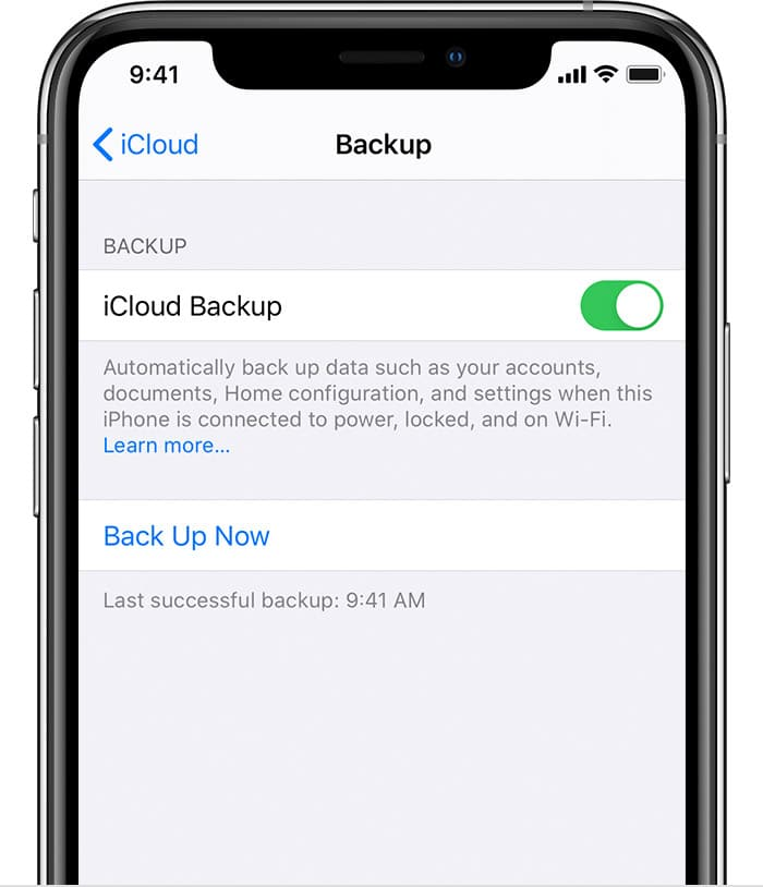 how to backup data from iPhone using iCloud